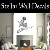 Hockey Players Skating Sticks Slap shot Checking Check Shooting Scoring Goalies Players CDS066 Sport Sports Wall or Car Vinyl Decal Sticker Mural SWD
