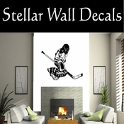 Hockey Players Skating Sticks Slap shot Checking Check Shooting Scoring Goalies Players CDS067 Sport Sports Wall or Car Vinyl Decal Sticker Mural SWD