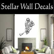 Hockey Players Skating Sticks Slap shot Checking Check Shooting Scoring Goalies Players CDS072 Sport Sports Wall or Car Vinyl Decal Sticker Mural SWD
