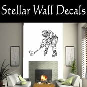 Hockey Players Skating Sticks Slap shot Checking Check Shooting Scoring Goalies Players CDS078 Sport Sports Wall or Car Vinyl Decal Sticker Mural SWD