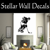 Hockey Players Skating Sticks Slap shot Checking Check Shooting Scoring Goalies Players CDS087 Sport Sports Wall or Car Vinyl Decal Sticker Mural SWD