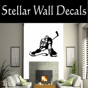 Hockey Players Skating Sticks Slap shot Checking Check Shooting Scoring Goalies Players CDS108 Sport Sports Wall or Car Vinyl Decal Sticker Mural SWD