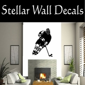 Hockey Players Skating Sticks Slap shot Checking Check Shooting Scoring Goalies Players CDS109 Sport Sports Wall or Car Vinyl Decal Sticker Mural SWD
