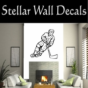 Hockey Players Skating Sticks Slap shot Checking Check Shooting Scoring Goalies Players CDS118 Sport Sports Wall or Car Vinyl Decal Sticker Mural SWD