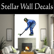 Hockey Players Skating Sticks Slap shot Checking Check Shooting Scoring Goalies Players CDSCOLOR075 Sport Sports Wall or Car Vinyl Decal Sticker Mural SWD