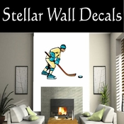 Hockey Players Skating Sticks Slap shot Checking Check Shooting Scoring Goalies Players CDSCOLOR094 Sport Sports Wall or Car Vinyl Decal Sticker Mural SWD