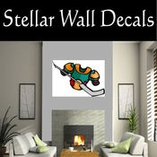 Hockey Pads Sticks Players Skating Sticks Slap shot Checking Check Shooting Scoring Goalies Players CDSCOLOR102 Sport Sports Wall or Car Vinyl Decal Sticker Mural SWD