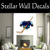 Hockey Pads Gear Goalie Stick Players Skating Sticks Slap shot Checking Check Shooting Scoring Goalies Players CDSCOLOR109 Sport Sports Wall or Car Vinyl Decal Sticker Mural SWD