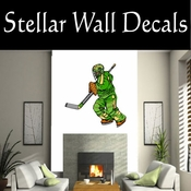 Hockey Players Skating Sticks Slap shot Checking Check Shooting Scoring Goalies Players CDSCOLOR135 Sport Sports Wall or Car Vinyl Decal Sticker Mural SWD