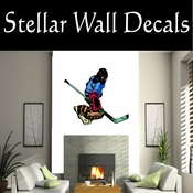 Hockey Players Skating Sticks Slap shot Checking Check Shooting Scoring Goalies Players CDSCOLOR139 Sport Sports Wall or Car Vinyl Decal Sticker Mural SWD