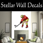 Hockey Players Skating Sticks Slap shot Checking Check Shooting Scoring Goalies Players CDSCOLOR150 Sport Sports Wall or Car Vinyl Decal Sticker Mural SWD