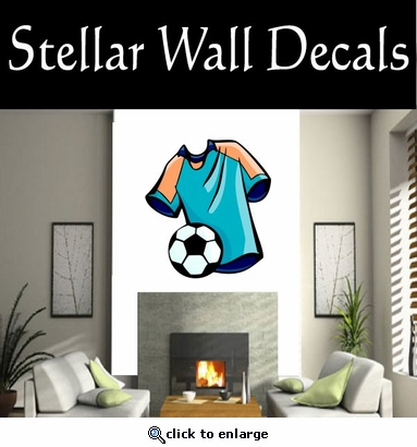 Soccer Futball Running Kicking Kick Score Goal Goalie Players CDSCOLOR115 Sports Vinyl Wall Decal - Wall Mural - Car Sticker  SWD
