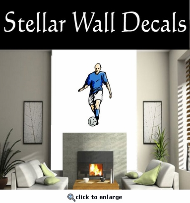 Soccer Futball Running Kicking Kick Score Goal Goalie Players CDSCOLOR126 Sports Vinyl Wall Decal - Wall Mural - Car Sticker  SWD