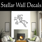 Rodeo Cowboy Horse Riding Horseback Riding Bull Riding CDS001 Sport Sports Wall or Car Vinyl Decal Sticker Mural SWD