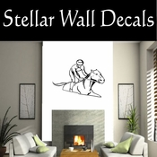 Rodeo Cowboy Horse Riding Horseback Riding Bull Riding CDS004 Sport Sports Wall or Car Vinyl Decal Sticker Mural SWD