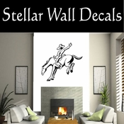 Rodeo Cowboy Horse Riding Horseback Riding Bull Riding CDS009 Sport Sports Wall or Car Vinyl Decal Sticker Mural SWD