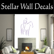 Rodeo Cowboy Horse Riding Horseback Riding Bull Riding CDSCOLOR009 Sport Sports Wall or Car Vinyl Decal Sticker Mural SWD
