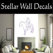 Rodeo Cowboy Horse Riding Horseback Riding Bull Riding CDSCOLOR015 Sport Sports Wall or Car Vinyl Decal Sticker Mural SWD
