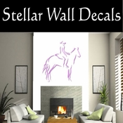 Rodeo Cowboy Horse Riding Horseback Riding Bull Riding CDSCOLOR019 Sport Sports Wall or Car Vinyl Decal Sticker Mural SWD