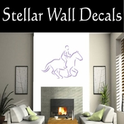 Rodeo Cowboy Horse Riding Horseback Riding Bull Riding CDSCOLOR021 Sport Sports Wall or Car Vinyl Decal Sticker Mural SWD