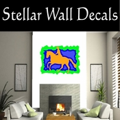 Rodeo Cowboy Horse Riding Horseback Riding Bull Riding CDSCOLOR032 Sport Sports Wall or Car Vinyl Decal Sticker Mural SWD