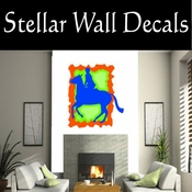 Rodeo Cowboy Horse Riding Horseback Riding Bull Riding CDSCOLOR033 Sport Sports Wall or Car Vinyl Decal Sticker Mural SWD