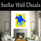 Rodeo Cowboy Horse Riding Horseback Riding Bull Riding CDSCOLOR035 Sport Sports Wall or Car Vinyl Decal Sticker Mural SWD