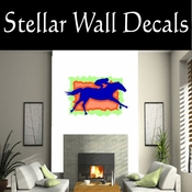 Rodeo Cowboy Horse Riding Horseback Riding Bull Riding CDSCOLOR037 Sport Sports Wall or Car Vinyl Decal Sticker Mural SWD