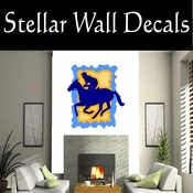 Rodeo Cowboy Horse Riding Horseback Riding Bull Riding CDSCOLOR045 Sport Sports Wall or Car Vinyl Decal Sticker Mural SWD