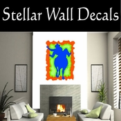 Rodeo Cowboy Horse Riding Horseback Riding Bull Riding CDSCOLOR054 Sport Sports Wall or Car Vinyl Decal Sticker Mural SWD