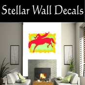 Rodeo Cowboy Horse Riding Horseback Riding Bull Riding CDSCOLOR056 Sport Sports Wall or Car Vinyl Decal Sticker Mural SWD