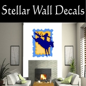 Rodeo Cowboy Horse Riding Horseback Riding Bull Riding CDSCOLOR066 Sport Sports Wall or Car Vinyl Decal Sticker Mural SWD