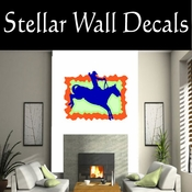 Rodeo Cowboy Horse Riding Horseback Riding Bull Riding CDSCOLOR071 Sport Sports Wall or Car Vinyl Decal Sticker Mural SWD