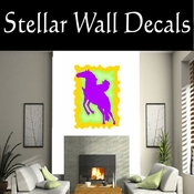 Rodeo Cowboy Horse Riding Horseback Riding Bull Riding CDSCOLOR076 Sport Sports Wall or Car Vinyl Decal Sticker Mural SWD