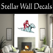 Rodeo Cowboy Horse Riding Horseback Riding Bull Riding CDSCOLOR090 Sport Sports Wall or Car Vinyl Decal Sticker Mural SWD