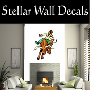 Rodeo Cowboy Horse Riding Horseback Riding Bull Riding CDSCOLOR093 Sport Sports Wall or Car Vinyl Decal Sticker Mural SWD