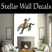 Rodeo Cowboy Horse Riding Horseback Riding Bull Riding CDSCOLOR095 Sport Sports Wall or Car Vinyl Decal Sticker Mural SWD