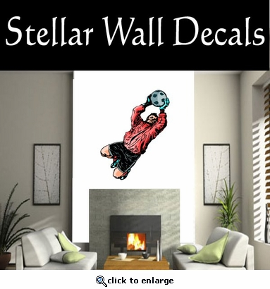 Soccer Futball Running Kicking Kick Score Goal Goalie Players CDSCOLOR151 Sports Vinyl Wall Decal - Wall Mural - Car Sticker  SWD