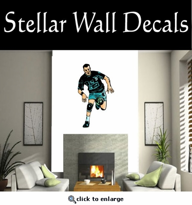 Soccer Futball Running Kicking Kick Score Goal Goalie Players CDSCOLOR199 Sport Sports Wall or Car Vinyl Decal Sticker Mural SWD
