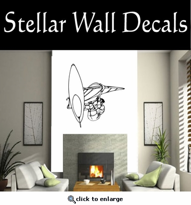 Surfing Surf Wave Riding Wind Surfing  CDS001 Sports Vinyl Wall Decal - Wall Mural - Car Sticker  SWD