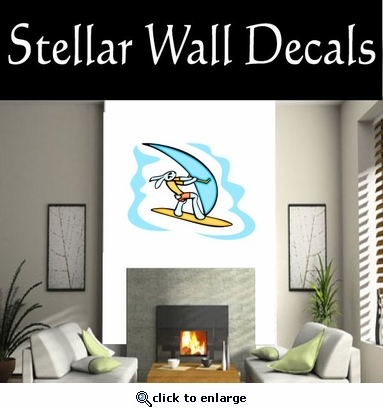 Surfing Surf Wave Riding Wind Surfing  CDSCOLOR002 Sports Vinyl Wall Decal - Wall Mural - Car Sticker  SWD