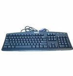 Dell 7N242 keyboard 104 key Quiet Touch, Grey, PS2 6 ft cable - Refurbished
