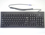 Wyse 770413-01 black 104-key US keyboard with PS2  and 6 foot cord