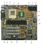 D7352-69004 HP Motherboard System Board Socket 7, 3 Pci Slots & Vid