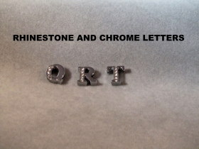 CHROME AND RHINESTONE LETTERS