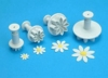 PME Daisy or Marguerite flower plunger cutter set of 4