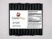 Pure Black Isomalt Sticks by Cake Play