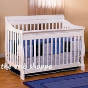 milano convertible crib  -white-