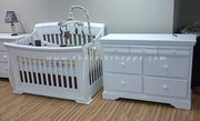 Hampton crib and change table- White or Java-