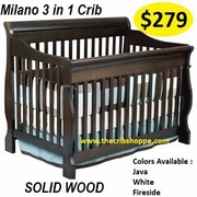 Milano Convertible Crib  - JAVA -